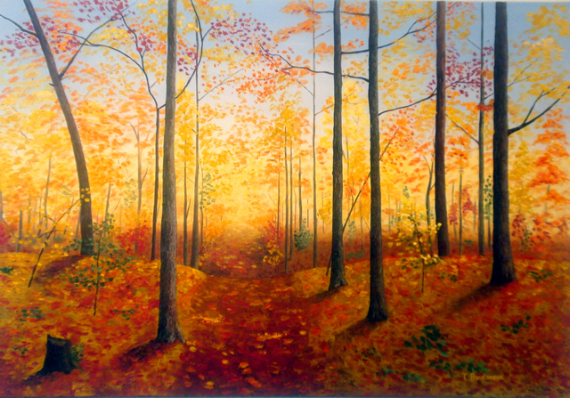 Tatyana Bondareva  'Autumn Forest', created in 2012, Original Painting Other.