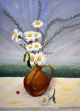 - artwork Daisies-1349985699.jpg - 2012, Painting Oil, Still Life
