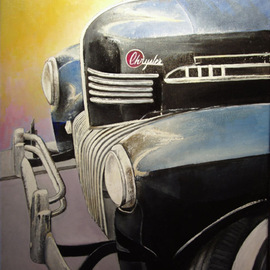 Tomas Castano: 'old chrysler', 2008 Oil Painting, Transportation. Artist Description:  old chrysler detail ...