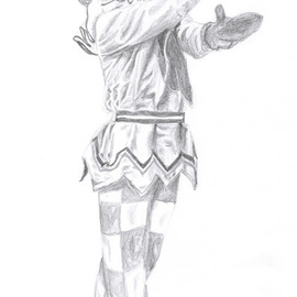 Tracey Carmen Artwork Nijinsky from the Ballet Petrushka, 2007 Pencil Drawing, Dance