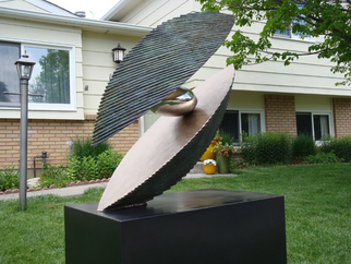 Bronze Sculpture by Ted Schaal titled: 40inch Ovilepod, 2011