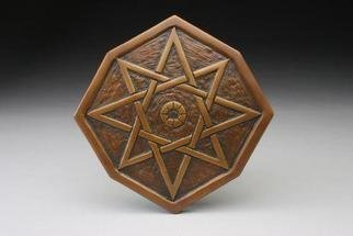 Ted Schaal: 'Bronze Star', 2005 Bronze Sculpture, Geometric.  Releif carving of an eight pointed star.  Designed for wall decoration or as architectural detail. ...