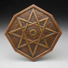 Ted Schaal: 'Bronze Star', 2005 Bronze Sculpture, Geometric. Artist Description:  Releif carving of an eight pointed star.  Designed for wall decoration or as architectural detail. ...