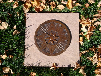 Bronze Sculpture by Ted Schaal titled: Compass Rose 8 inch, created in 2011