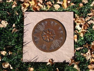 Bronze Sculpture by Ted Schaal titled: Compass Rose 8 inch, 2011