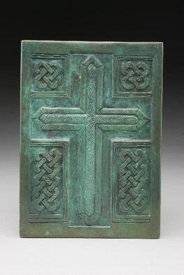 Ted Schaal: 'Cross', 2005 Bronze Sculpture, Biblical.  Bronze relief. includes hardware for custum instalation. ...