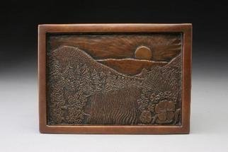 Ted Schaal: 'Meadow by day', 2005 , Landscape.  wall relief. Please allow 2 months for casting and delivery if not in stock. ...