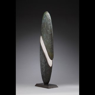 Ted Schaal: ' The Rift', 2013 Mixed Media Sculpture, Minimalism.  This sculpture is cast bronze and mirror polished stainless steel. ...