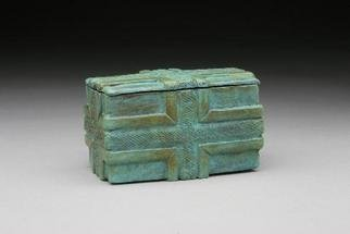 Ted Schaal: 'ribbon box', 2005 Bronze Sculpture, Meditation.  This box is a place for special objects. When you place an object in here you elevate its station in your life to the sacred. This decorative bronze keepsake box has a brilliant surface on the inside. Please allow 2 months for delivery if not in stock....