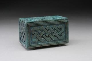 Ted Schaal: 'small knot box', 2005 , Islamic.  This is designed to be used as a special treasury for sacred rituals or as a keepsake vessel. It has a brilliant bronze surface inside. Please allow 2 months for delivery if not in stock....