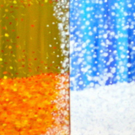 Tina Martin: 'They come and they go', 2011 Acrylic Painting, Seasons. Artist Description:  Tetraptych ( 4 panels) , acyrlic, bold color.    ...