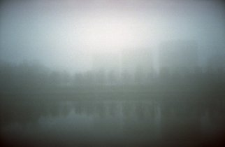 Albert Rasyulis: 'houses in the fog', 2012 Color Photograph, Undecided. Artist Description: This film photo was taken in St. Petersburg in heavy fog. ...