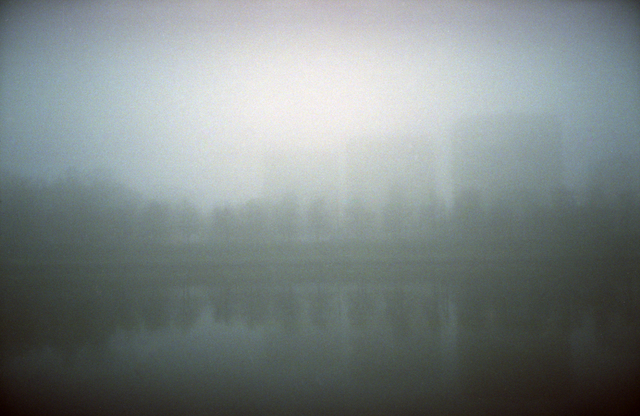 Albert Rasyulis  'Houses In The Fog', created in 2012, Original Photography Color.