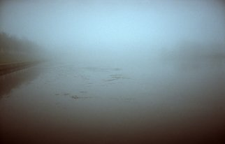 Albert Rasyulis: 'pond in the fog', 2012 Color Photograph, Landscape. Artist Description: This film photo was taken in St. Petersburg in heavy fog. ...