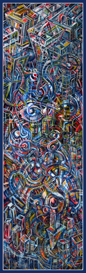 Artist: Temo Dumbadze - Title: Future City - Medium: Oil Painting - Year: 2013