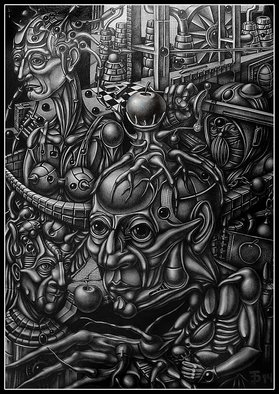 Temo Dumbadze Artwork The Apple Tree, 2014 Pencil Drawing, Surrealism