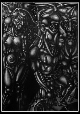 Temo Dumbadze Artwork The prodigal son, 2015 Pencil Drawing, Surrealism