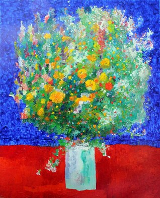 Temo Svirely Artwork flowers, 2011 Oil Painting, Floral