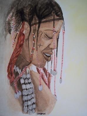 Artist: Teresa Peterson - Title: Janjubi Tribe - Medium: Watercolor - Year: 2005