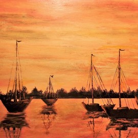 anchored for the night  By Teri Paquette