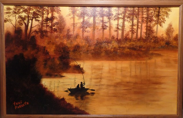 Teri Paquette  'Early Morning Fishing', created in 2020, Original Watercolor.