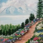 floral mountain path By Teri Paquette