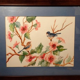 pair of bluebirds  By Teri Paquette