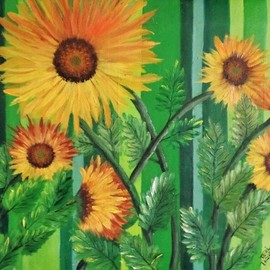 sunny sunflowers By Teri Paquette