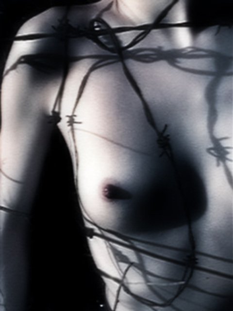 Artist Teri Rice. 'Breast8x' Artwork Image, Created in 2002, Original Photography Black and White. #art #artist