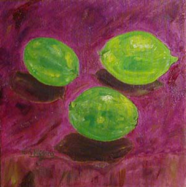 Terri Higgins  'Limes', created in 2003, Original Watercolor.