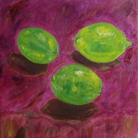 Terri Higgins: 'Limes', 2003 Oil Painting, Still Life. Artist Description: It' s Just That You Suck The Life Out Of Me...