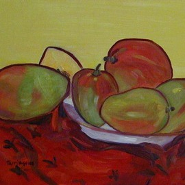Mangoes and Red Cloth