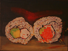 - artwork Sushi-1354163609.jpg - 2012, Painting Oil, Still Life