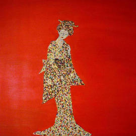 Terri Higgins: 'The Expression of My Imagined Collection', 2003 Oil Painting, Culture. Artist Description: An allegory to all lost, stolen, or destroyed artwork. Pointillism....