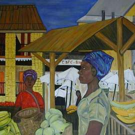 Terri Higgins: 'Zoma', 2002 Oil Painting, Culture. Artist Description:  Collection of J. HigginsShopping at the Zoma Market in Madagascar....