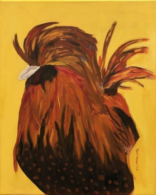 Terri Higgins: 'marie antoinettes chicken 4', 2020 Oil Painting, Birds. This is painting number 4 and part of a series of  Marie Antoinette s chickens in Versailles. Oil on Linen. ...