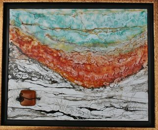 T.e. Siewert Artwork autumn into winter, 2015 Encaustic Painting, Abstract