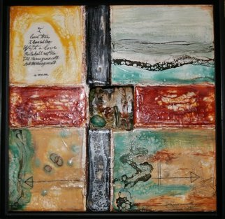 T.e. Siewert Artwork i love thee, 2015 Encaustic Painting, Abstract