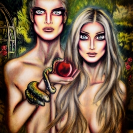 Adam and Eve in Eden by Tiago Azevedo By Tiago Azevedo