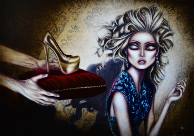 Tiago Azevedo  'Cinderella Painting By Tiago Azevedo Lowbrow Art', created in 2016, Original Painting Oil.