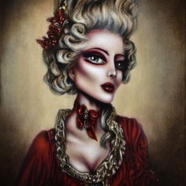 Marie Antoinette Painting by Tiago Azevedo Lowbrow By Tiago Azevedo