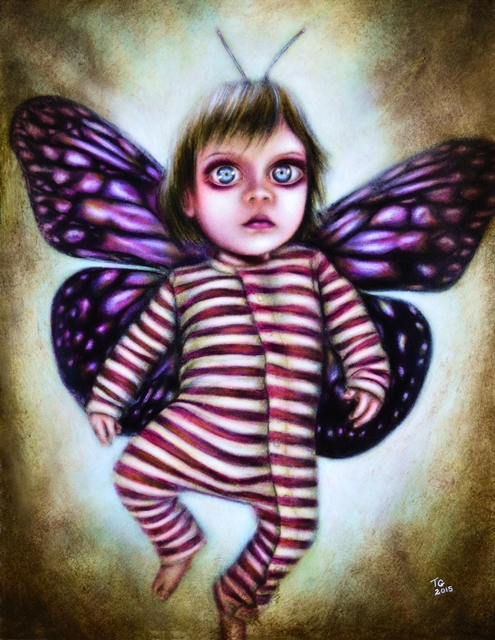 Tiago Azevedo  'Rise Of The Little Fairy Painting By Tiago Azevedo', created in 2015, Original Painting Oil.