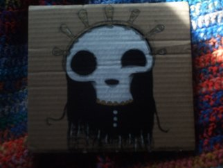 Artist: David Calvillo - Title: Lord Shiny Skull Head - Medium: Acrylic Painting - Year: 2011
