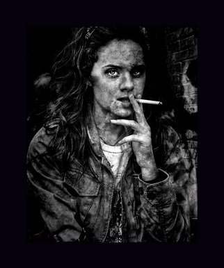 Dude Clark: 'Zombie', 2016 Black and White Photograph, . Street style behind an independent coffee shop in Nowhere, Georgia. ...