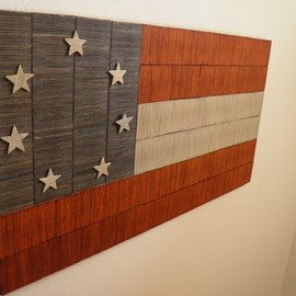Robert Haifley: 'Symbol of Loss', 2016 Wood Sculpture, History. Artist Description: First National Confederate Flag constructed and sculpted with over 2,100 toothpicks. Each of the stars are also constructed of toothpicks. This piece is hand stained NOT PAINTED I chose the name of this piece based on the reality that so much was lost as a result of ...