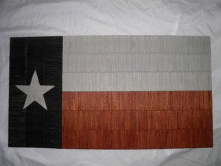 Robert Haifley: 'texas', 2017 Wood Sculpture, History. Artist Description: Another of my  toothpick  sculptured flags titled   Texas .  This flag is constructed with over 1,200- toothpicks, took over 225- hours to construct.  The colors on this flag are  Stain   NOT PAINT .  The Lone Star is also constructed of toothpicks and is over 5- inches wide....