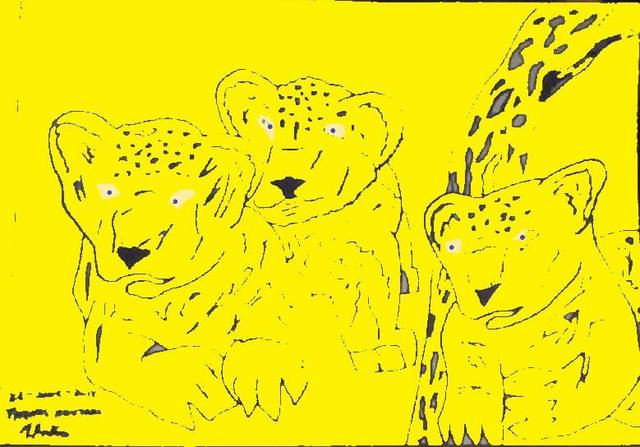 Themis Koutras  '2 Baby Lions And A Qwarler 2', created in 2019, Original Book.