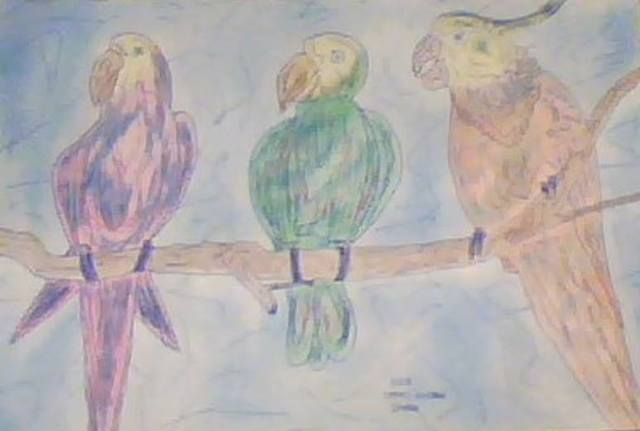 Themis Koutras  'Parrots', created in 2019, Original Book.