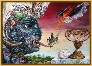Artist: Otto Rapp - Title: Revelation 20 - Medium: Acrylic Painting - Year: 1994