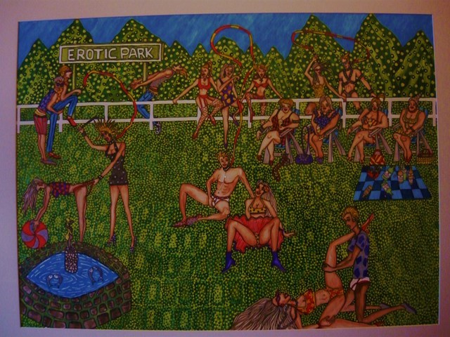 Theodore Kennett Raj  'Erotic  Park', created in 2009, Original Painting Other.